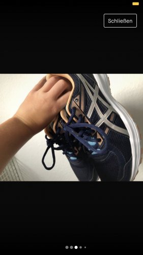 Asics Basket à lacet bleu-orange clair