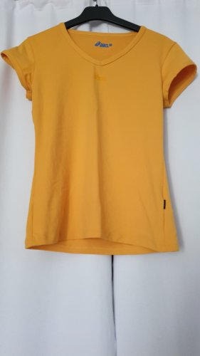 Asics Sports Shirt yellow-gold orange