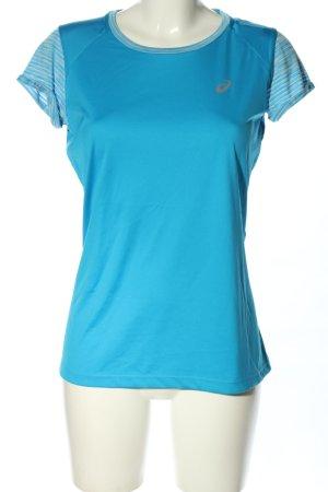 Asics Sportshirt blauw casual uitstraling