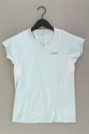Asics Sportshirt Größe M Kurzarm blau aus Polyester