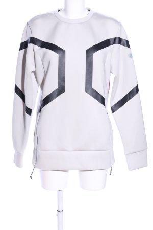 Asics Sweatshirt wollweiß-schwarz Casual-Look