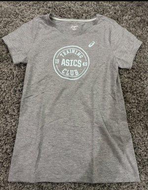 Asics T-Shirt light grey-light blue