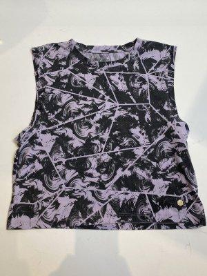 Asics Crop-top mauve-gris lilas