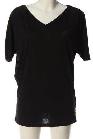 Asics V-Neck Shirt black elegant