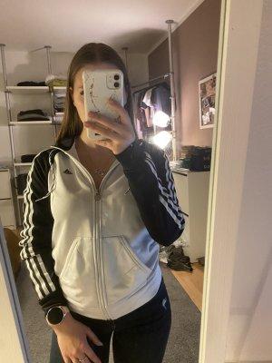 Adidas Kurtka z kapturem biały-czarny