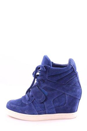 asn Keil-Stiefeletten blau-weiß Casual-Look