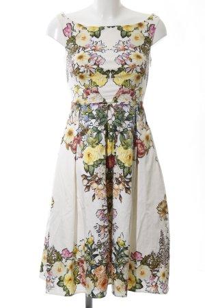 Asos A-Linien Kleid weiß Blumenmuster Elegant