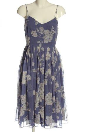 Asos Sukienka o kroju litery A niebieski-jasnoszary Na całej powierzchni