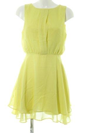 Asos A-Linien Kleid limettengelb Casual-Look