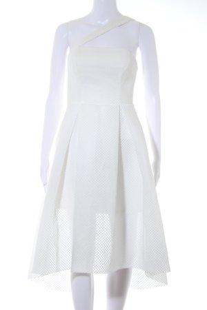 Asos A-Linien Kleid wollweiß Netz-Optik