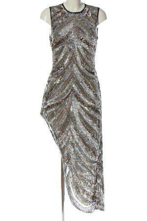 Asos Evening Dress silver-colored elegant