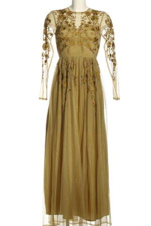 Asos Abendkleid goldfarben Blumenmuster Elegant