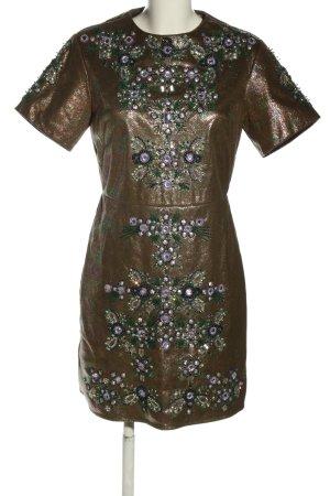 Asos Avondjurk bruin-lila volledige print elegant