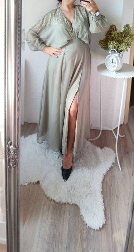 asos Abendkleid graugrün Salbai 40 neu