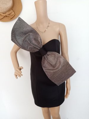 asos Abendkleid schwarz Silber 38