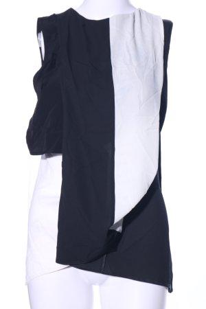 Asos ärmellose Bluse schwarz-weiß Elegant
