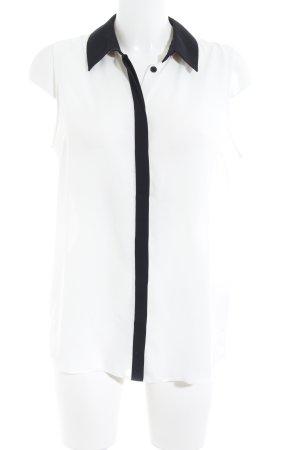 Asos ärmellose Bluse weiß-schwarz klassischer Stil