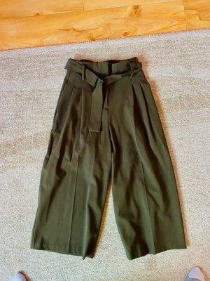 ASOS DESIGN Pantalon paperbag gris vert-kaki