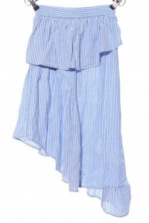 Asos Asymmetry Skirt blue-white striped pattern casual look