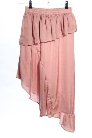Asos Asymmetry Skirt pink casual look