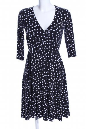 Asos Babydoll Dress black-white spot pattern elegant