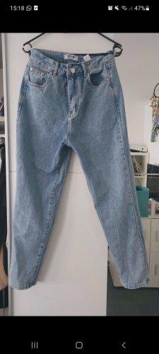 Asos Workowate jeansy jasnoniebieski