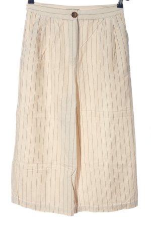 Asos Baggy Pants wollweiß-braun Streifenmuster Casual-Look