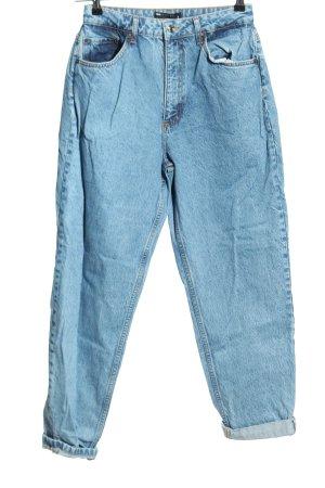 Asos Workowate jeansy niebieski W stylu casual