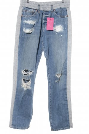 Asos Baggy jeans lichtgrijs-blauw ontspannen stijl