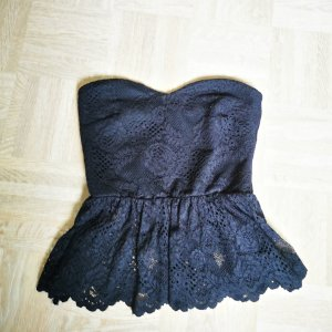 Asos Top z dekoltem typu bandeau czarny