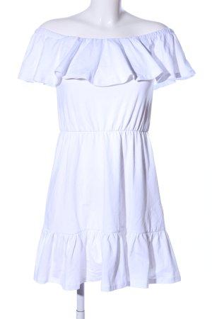 Asos Vestido bandeau blanco look casual