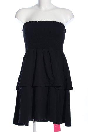 Asos Vestido bandeau negro look casual