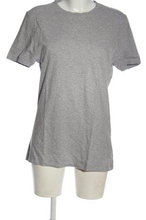 Asos Basic-Shirt hellgrau meliert Casual-Look