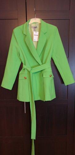 Asos Blazer lang zweireihig neon grün M 38