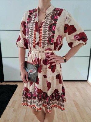 Asos Blumen Kleid XS S M 34 36 38 bunt Midi Kleid Tunika Top Cocktailkleid Dress Neu