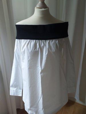 ASOS DESIGN Long Sleeve Blouse white-black