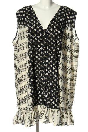 Asos Blusenkleid schwarz-wollweiß grafisches Muster Casual-Look