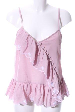 Asos Chemisier rose-blanc polyester