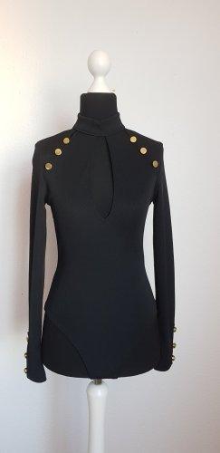 Asos Blusa tipo body negro-color oro