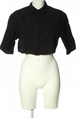 Asos Kurzarm-Bluse schwarz Casual-Look