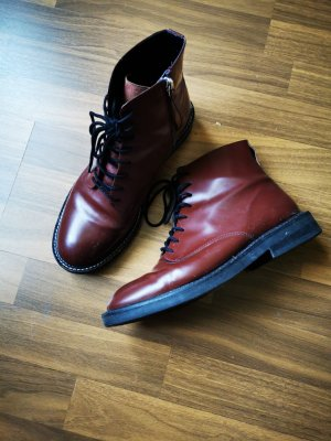 Asos Lace-up Booties brown red