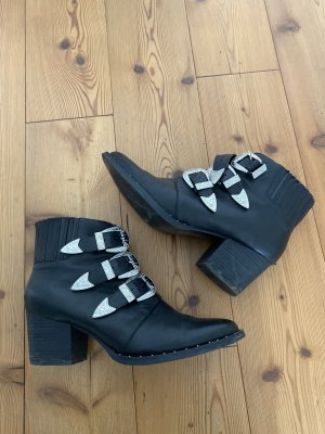 Asos Ankle Boots black-silver-colored