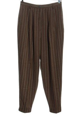 Asos Spodnie typu boyfriend brązowy-jasnoszary Wzór w paski W stylu casual