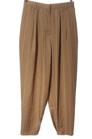 Asos Chinosy brązowy Wzór w paski W stylu casual