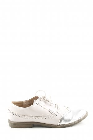 Asos Wingtip Shoes natural white-silver-colored business style