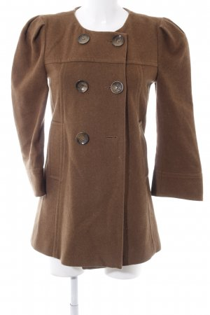 Asos Pea Jacket brown mixture fibre