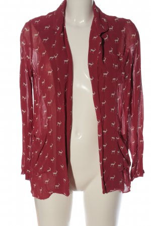 Asos Cardigan rot-weiß Allover-Druck Casual-Look