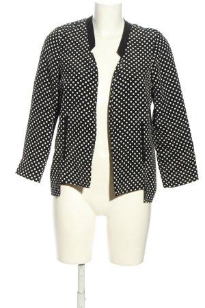 Asos Kurz-Blazer schwarz-weiß Punktemuster Casual-Look