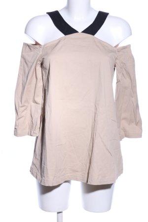 Asos Carmen-Bluse wollweiß-schwarz klassischer Stil
