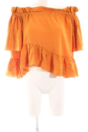 Asos Carmen-Bluse orange Casual-Look